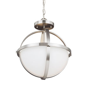 Nicolet Brushed Nickel Two-Light Pendant