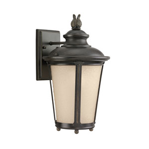 George Burled Iron Energy Star 16-Inch LED Outdoor Wall Lantern