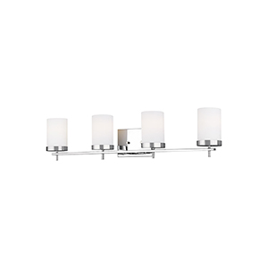 Loring Chrome Four-Light Wall Sconce