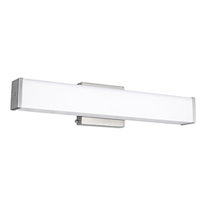 Loring Brushed Nickel 24-Inch LED Bath Bar