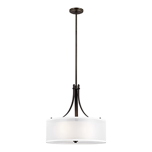 Uptown Bronze Three-Light Pendant