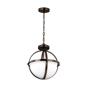 Nicollet Oil Rubbed Bronze Two-Light Semi-Flush Mount Title 24