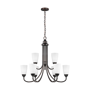 Nora Burnt Sienna 29-Inch Nine-Light Chandelier