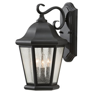 Lincoln Black 10-Inch Outdoor Wall Lantern
