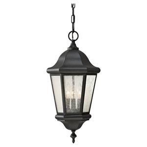 Lincoln Black Outdoor Pendant