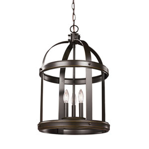 Howe Bronze 14-Inch Three-Light Hall Foyer