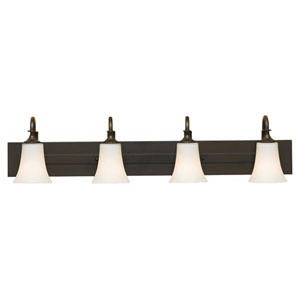 Evelyn Oil Rubbed Bronze Four-Light Vanity Fixture