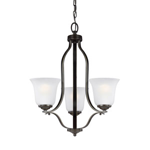 James Bronze 19.5-Inch Three-Light Chandelier