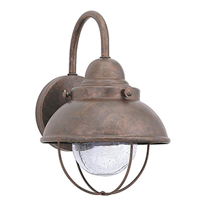Knox Weathered Copper Eight-Inch LED Outdoor Wall Sconce