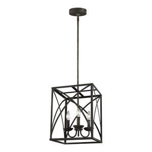 Eloise Iron Oxide 12-Inch Three-Light Pendant