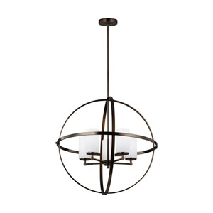 Nicollet Oil Rubbed Bronze Five-Light Chandelier Title 24