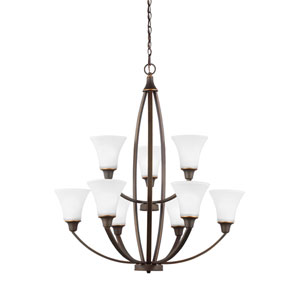 Charles Autumn Bronze Energy Star Nine-Light LED Chandelier