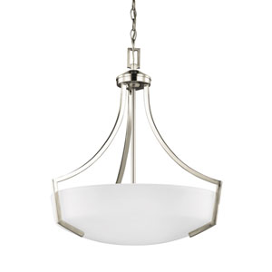 Linden Brushed Nickel 20.5-Inch Three-Light Pendant