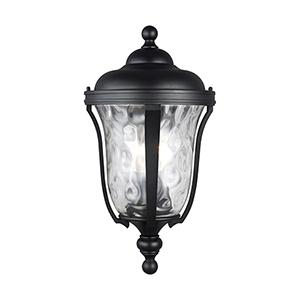 Charlotte Black Nine-Inch Three-Light Outdoor Wall Lantern
