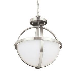 Nicolet Brushed Nickel Energy Star Two-Light LED Convertible Pendant