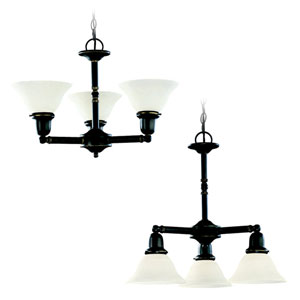 Partridge Three-Light Up/Down Chandelier
