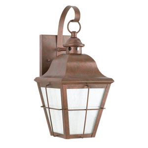 Hazel Weathered Copper One-Light Outdoor Wall Light