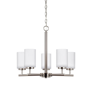 Pax Brushed Nickel 24-Inch Five-Light Chandelier
