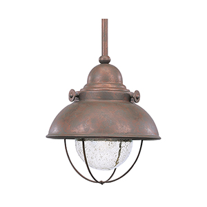 Knox Weathered Copper Eight-Inch LED Outdoor Pendant