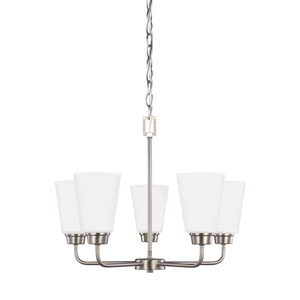 Whitter Brushed Nickel Energy Star Five-Light LED Chandelier