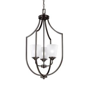 Linden Burnt Sienna Three-Light Lantern Pendant