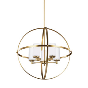 Nicolet Satin Bronze Energy Star Five-Light LED Chandelier