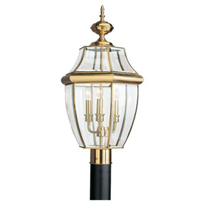 Oxford Polished Brass Post Lantern
