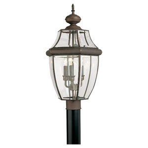 Charles Antique Bronze Outdoor Post Lantern