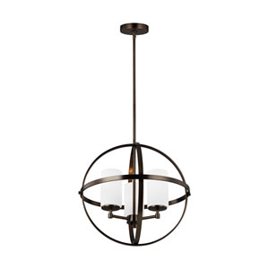 Nicollet Oil Rubbed Bronze Three-Light Chandelier Title 24