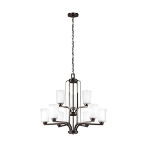 Anita Burnt Sienna 30-Inch Nine-Light Chandelier