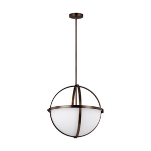 Nicollet Oil Rubbed Bronze Three-Light Pendant Title 24
