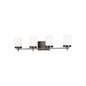 Loring Brushed Oil Rubbed Bronze Four-Light Energy Star Wall Sconce