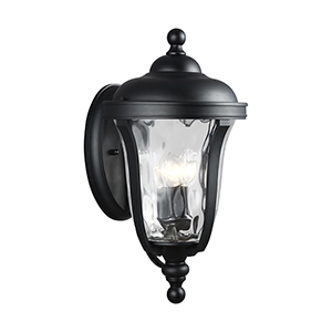 Charlotte Black Three-Light Outdoor Wall Lantern