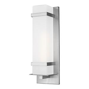 Fredrick Satin Aluminium One-Light Energy Star Outdoor Wall Lantern