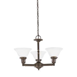 Partridge Bronze Energy Star Three-Light LED Chandelier