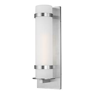 Fredrick Satin Aluminium Eight-Inch  One-Light Energy Star Outdoor Wall Lantern