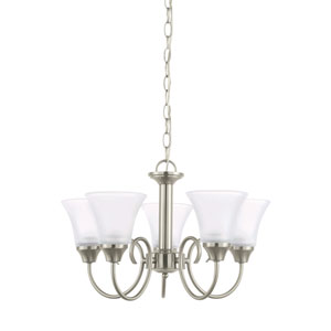 Webster Brushed Nickel Energy Star Five-Light LED Chandelier