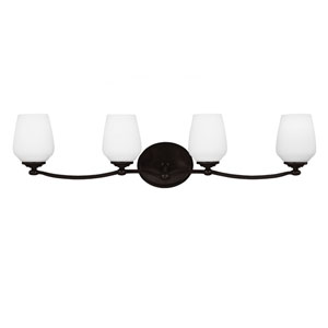 Webster Heritage Bronze Four-Light Bath Fixture