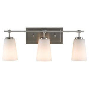 Nicollet Drive Brushed Steel Three-Light Bath Light