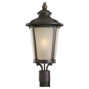 George Burled Iron Outdoor Post Mount Lantern