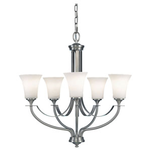 Evelyn Brushed Steel Five-Light Hall