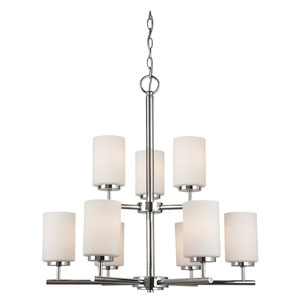 Pax Chrome Energy Star Nine-Light LED Chandelier