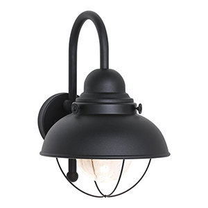 Knox Black 11-Inch LED Outdoor Wall Sconce