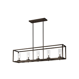 Loring Brushed Oil Rubbed Bronze Five-Light Mini Pendant