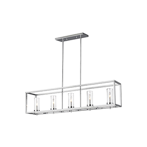Loring Chrome Five-Light Mini Pendant