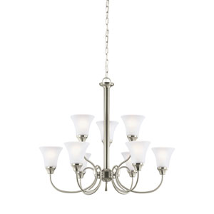 Webster Brushed Nickel Energy Star Nine-Light LED Chandelier