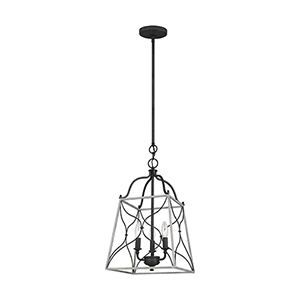 Willow White Wash Three-Light Pendant