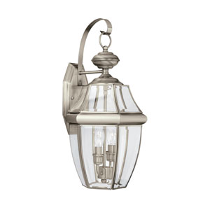 Oxford Antique Brushed Nickel 10-Inch Energy Star Two-Light Outdoor Wall Lantern