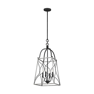 Willow White Wash Four-Light Energy Star Pendant