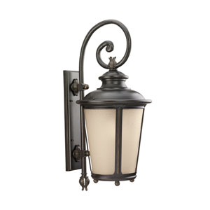George Burled Iron Energy Star 30-Inch LED Outdoor Wall Lantern